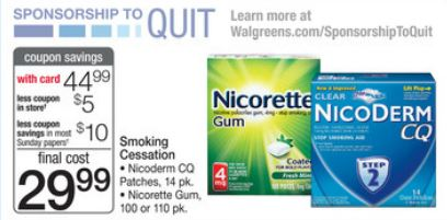 Discount coupons for nicoderm cq