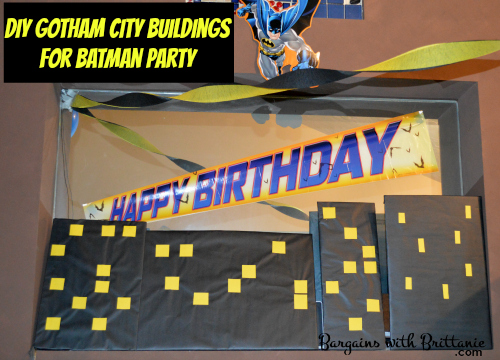 DIY Gotham City Buildings for Batman Party!