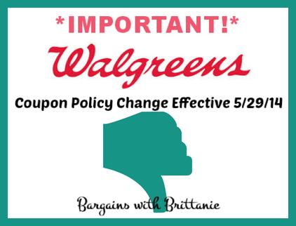 Walgreens coupon policy