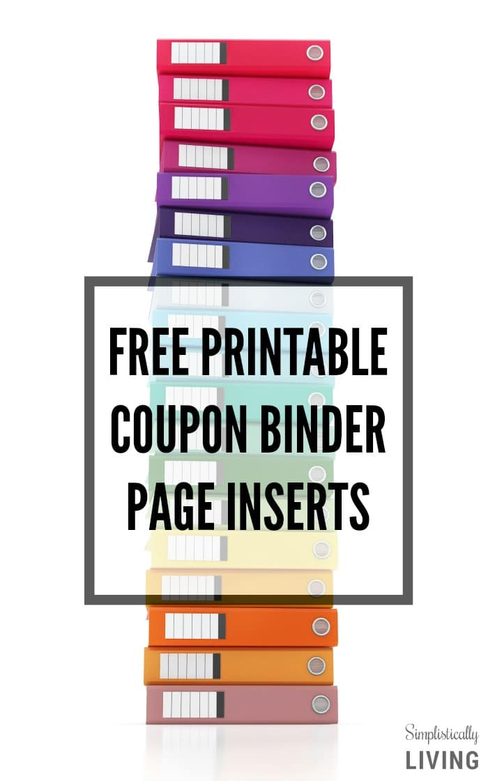 free printable coupon binder page inserts