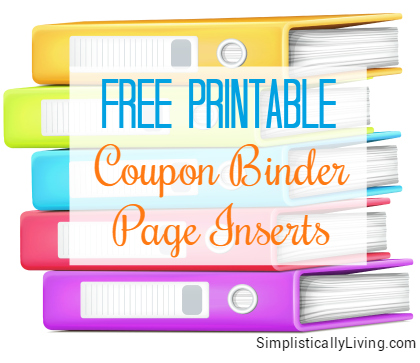 FREE Printable Coupon Binder Page Inserts!
