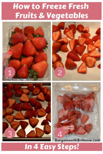 how to freeze fresh fruits & vegetables
