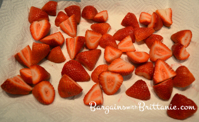 strawberries drying