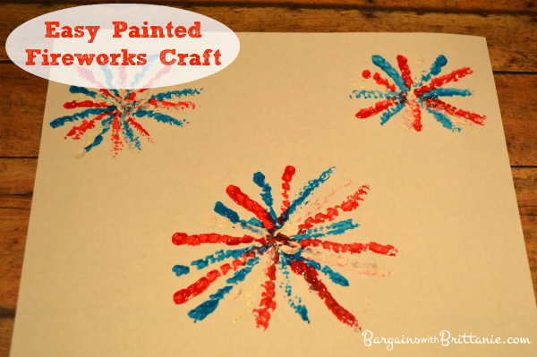 Easy Painted Fireworks