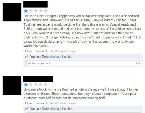 reviews on ken garff page