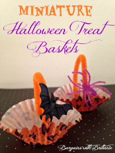 Miniature Halloween Treat Baskets