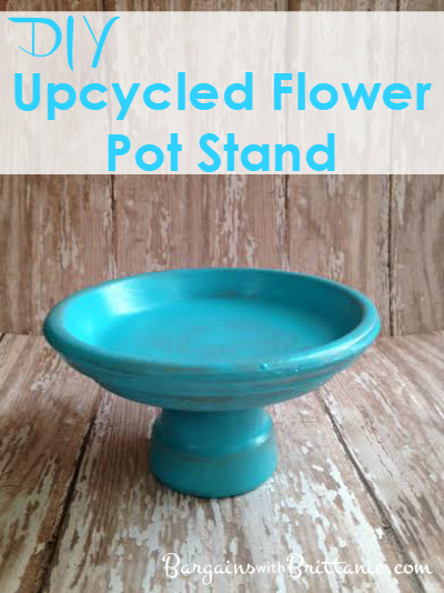 diy upcycled flower pot stand
