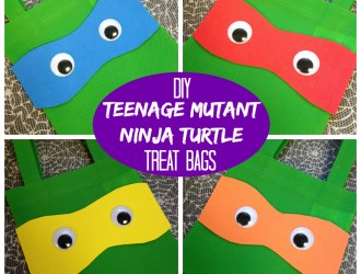 DIY Teenage Mutant Ninja Turtle Treat Bags!