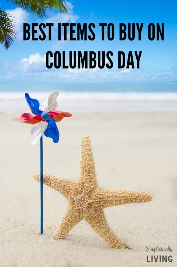 BEST ITEMS TO BUY ON COLUMBUS DAY