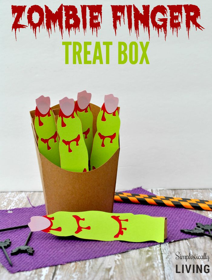 Zombie finger treat box