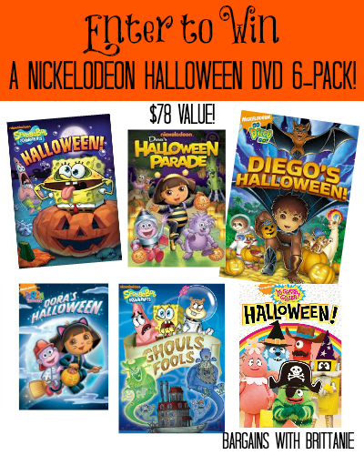 nickelodeon halloween dvd 6 pack giveaway