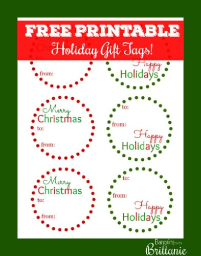 Personalized christmas gift tags free printables rainforest holiday gift tags at design sponge 1 negle Image collections