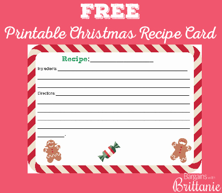 free printable christmas recipe cards