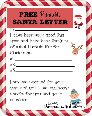 free printable santa letter simplistically living