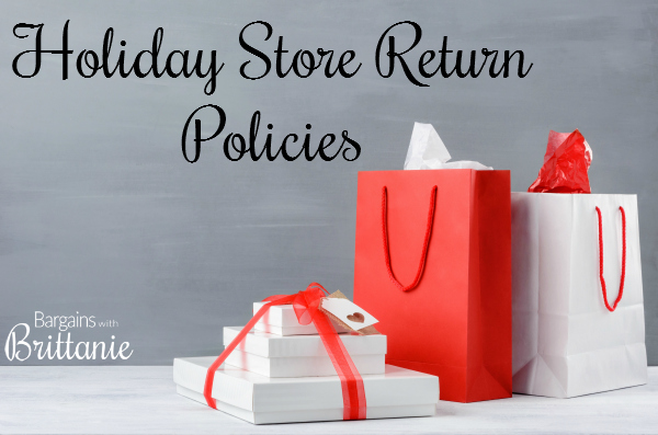 holiday store return policies