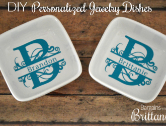 DIY Personalized Jewelry Dishes
