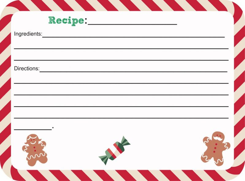 christmas recipe card template template christmas recipe card template