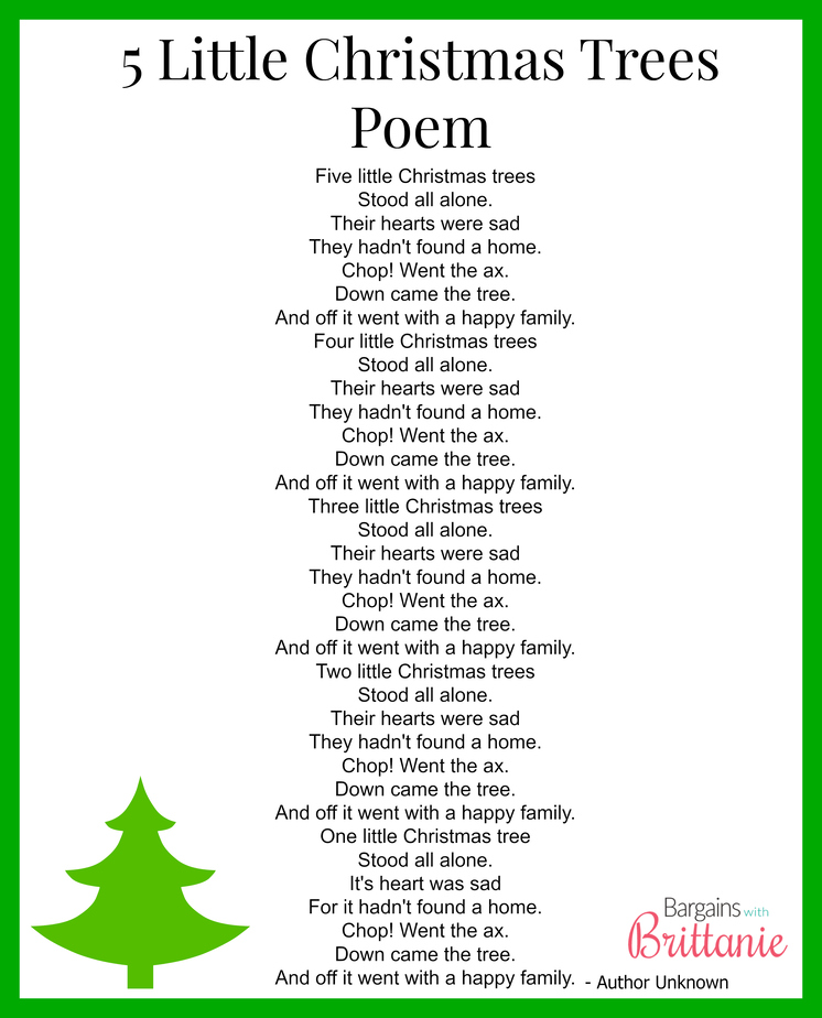 Little Christmas Trees Part - 41: You Can Get Your FREE 5 Little Christmas Trees Poem Printable Here.
