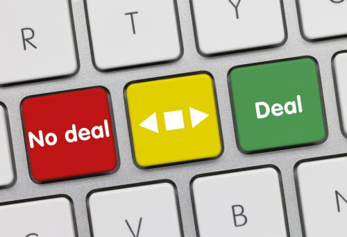 No deal or deal. Keyboard