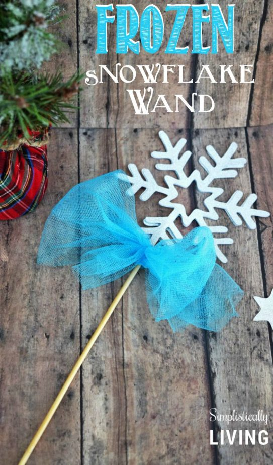 Frozen Snowflake Wand