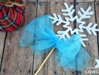 Frozen Inspired Snowflake Wand
