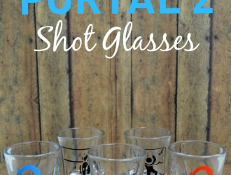 DIY Portal 2 Shot Glasses