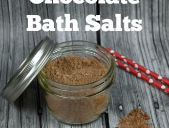 DIY chocolate bath salts