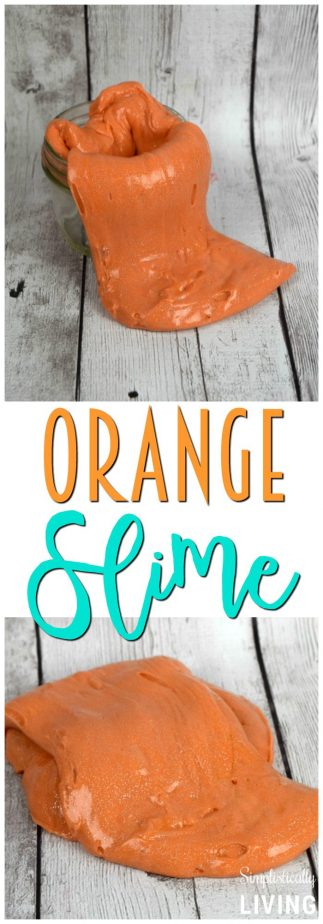 Glittered Orange Slime #orange #orangeslime #slime #simpleslime #slimerecipes
