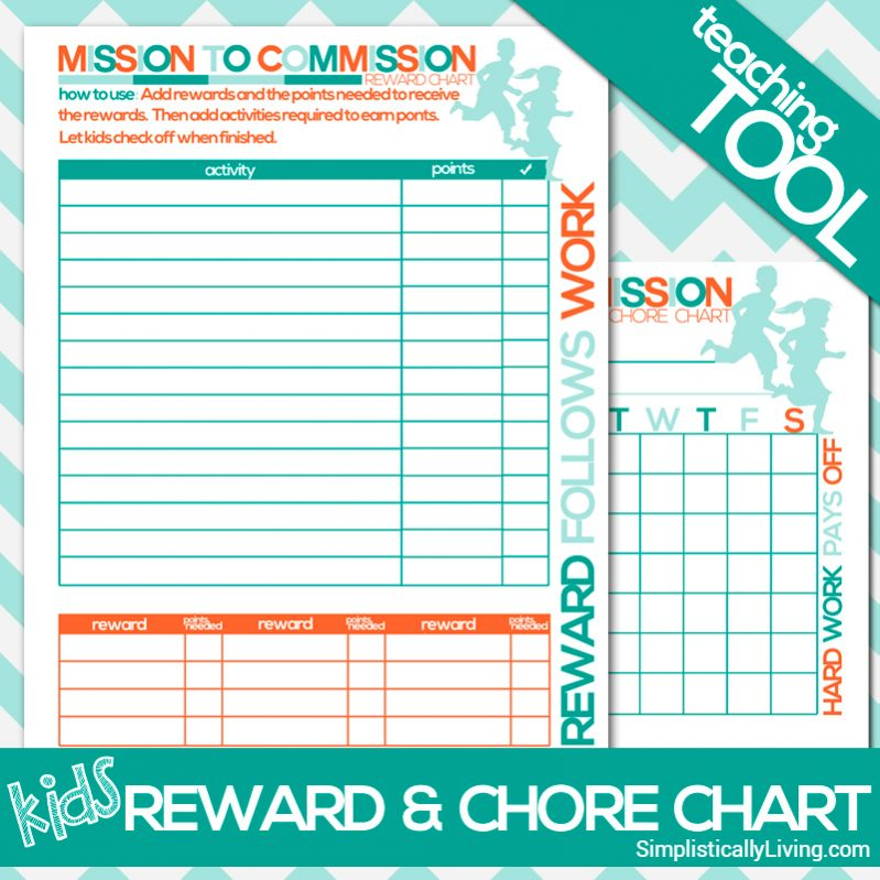 Kids Reward Chore Chart