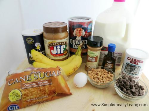 banana oatmeal bars ingredients