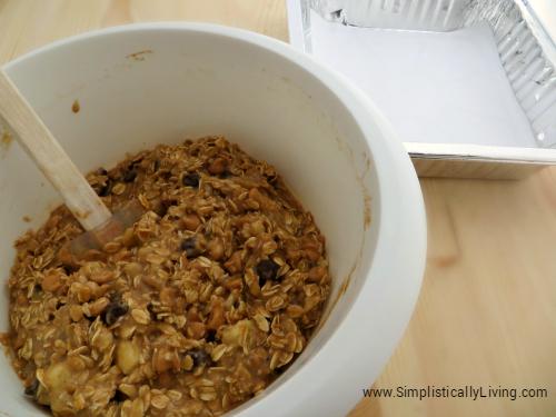 banana oatmeal bars process