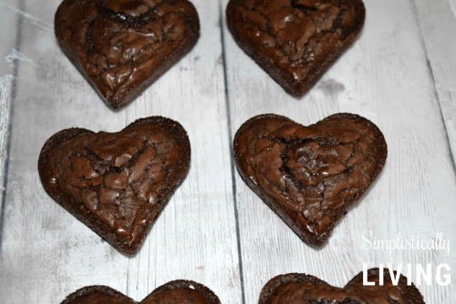 heart brownies on parchment paper