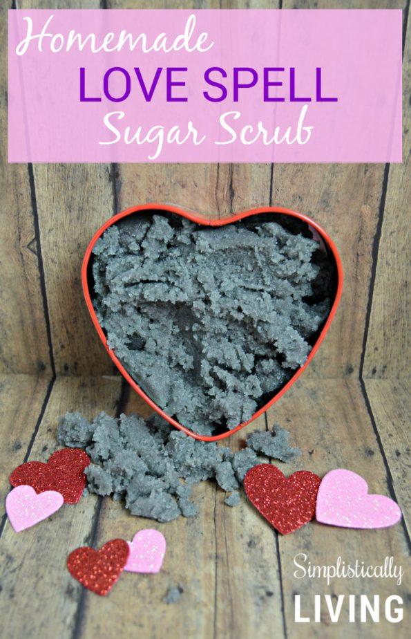 Homemade Love Spell Sugar Scrub Simplistically Living