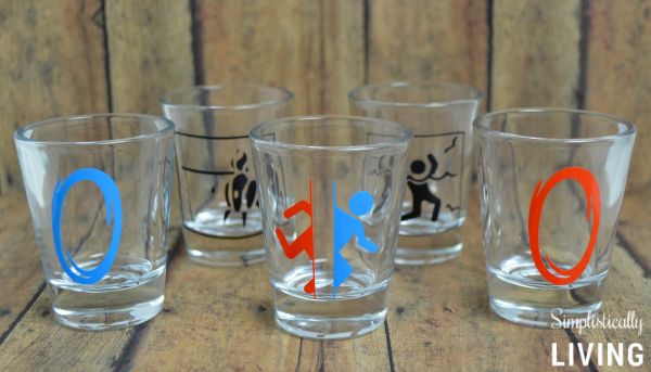 portal 2 shot glasses