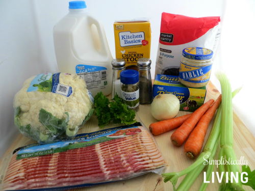 cauliflower chowder ingredients