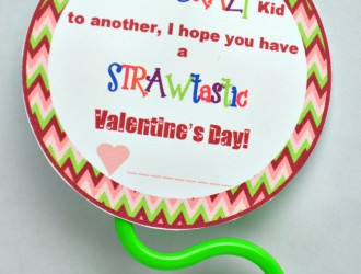 Crazy Straw Valentines + Free Printable!