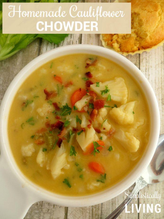 homemade cauliflower chowder