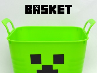 DIY Minecraft Creeper Basket