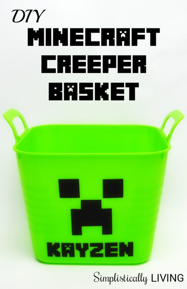 minecraft creeper basket
