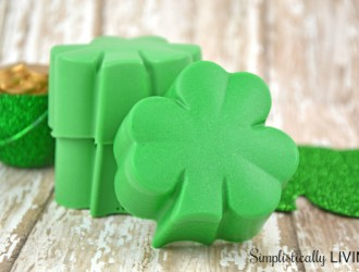 Homemade Shamrock Soap
