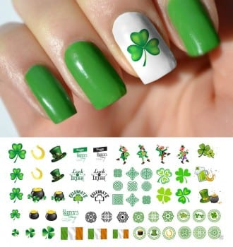 Day luck of the irish nail art decals 4 49 free shipping