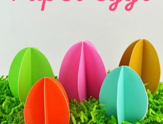 DIY 3D Paper Eggs