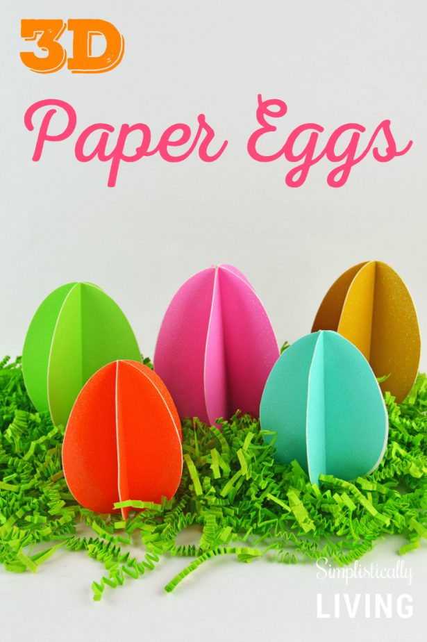3D paper eggs