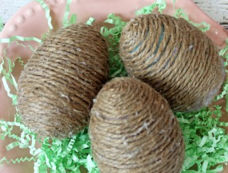 DIY Twine Wrapped Eggs