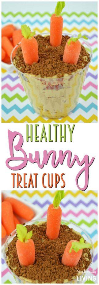 Healthy Bunny Treat Cups #bunny #bunnytreats #eastertreats #bunnytreatcups #healthyeaster #easterdesserts