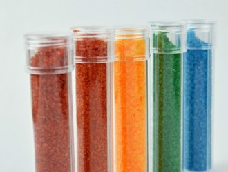 DIY Rainbow Bath Salts