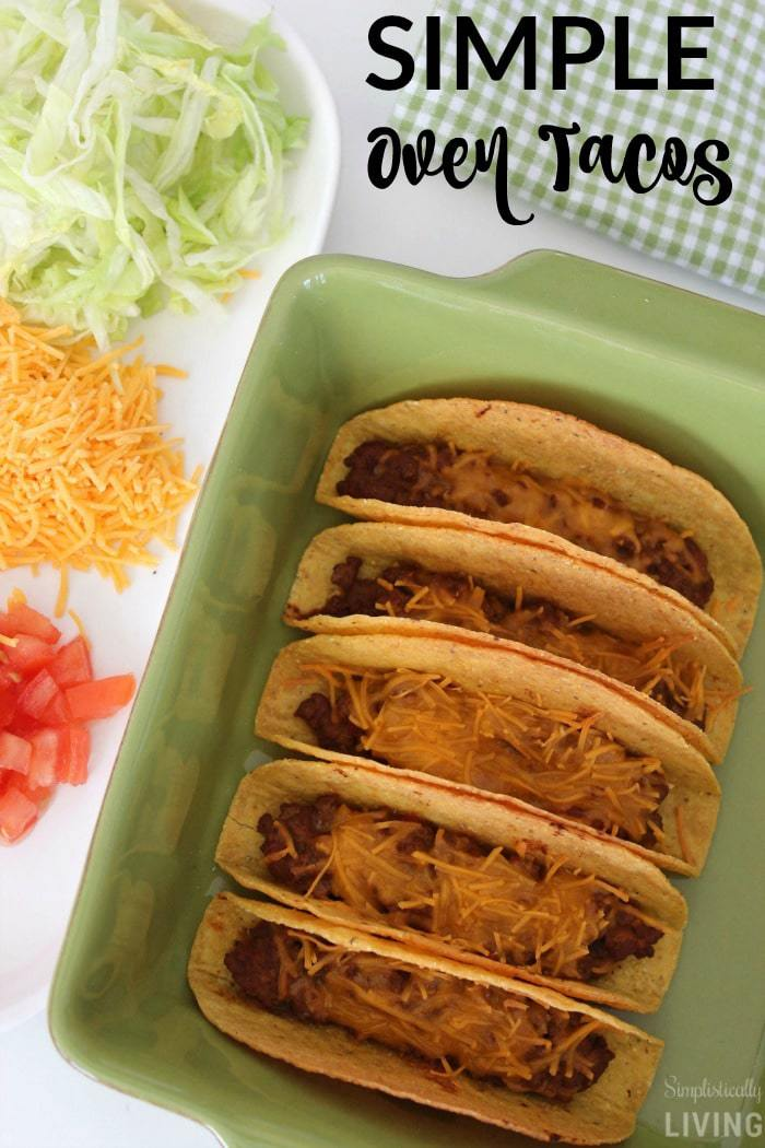 SIMPLE oven tacos