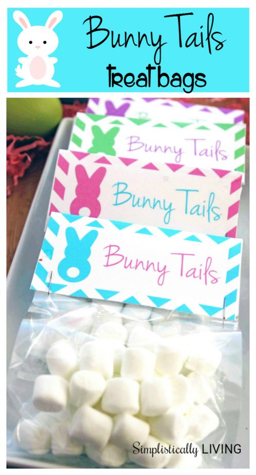 bunny tails treat bags