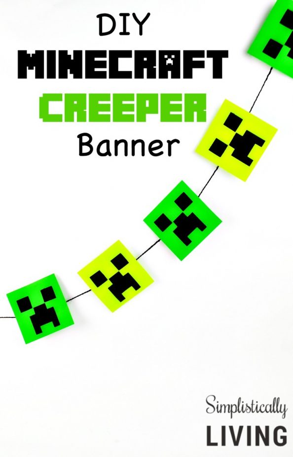 DIY Minecraft Creeper Banner