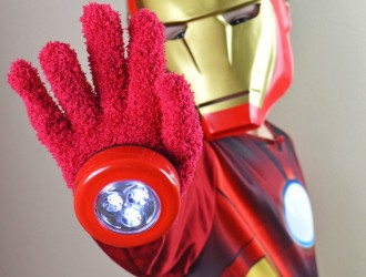 DIY Iron Man Gloves {Dollar Store Craft}